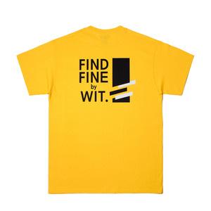 [위티나트] FFBW 사선로고 쇼트 슬리브 티셔츠 옐로우 / FFBW DIAGONAL LOGO SSV T-SHIRT yellow - 풋셀스토어