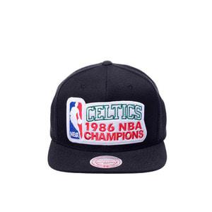 미첼엔네스 NBA 보스톤셀틱스 86 백투백 챔피언스 스냅백, MITCHELL&NESS NBA BOSTON CELTICS 86 BACK TO BACK CHAMPIONS SNAPBACK  - 풋셀스토어