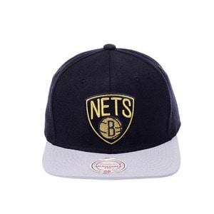 미첼엔네스 NBA 브룩클린네츠 바로크 스냅백, MITCHELL&NESS NBA BROOKLYN NETS BAROQUE SNAPBACK  - 풋셀스토어