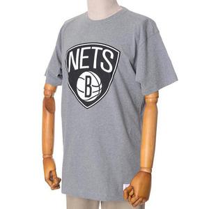 미첼엔네스 NBA 브룩클린네츠 트랜디셔널 반팔티(그레이), MITCHELL&NESS NBA BROOKYLN NETS BLACK AND WHITE LOGO TRADITIONAL TEE - GREY  - 풋셀스토어
