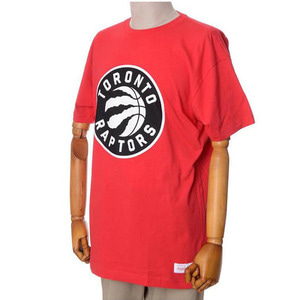 미첼엔네스 NBA 토론토 랩터스 트랜디셔널 반팔티(레드), MITCHELL&NESS NBA TORONTO RAPTORS BLACK AND WHITE LOGO TRADITIONAL TEE - RED  - 풋셀스토어