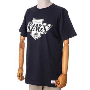 미첼엔네스 NHL LA킹스 트랜디셔널 반팔티(블랙), MITCHELL&NESS NHL LA KINGS BLACK AND WHITE LOGO TRADITIONAL TEE - BLACK  - 풋셀스토어