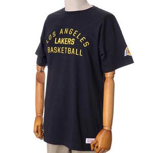 미첼엔네스 NBA LA레이커스 팀이슈 트랜디셔널 반팔티(블랙), MITCHELL&NESS NBA LA LAKERS TEAM ISSUED TRADITIONAL TEE - BLACK  - 풋셀스토어