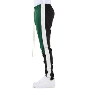 [EPTM] COLOR BLOCK TRACK PANTS (GREEN/WHITE/BLACK) - 풋셀스토어
