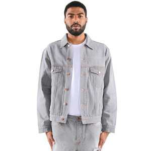 [EPTM] DENIM TRUCKER JACKET (GREY) - 풋셀스토어