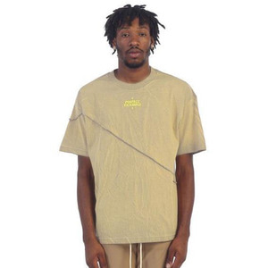 [EPTM] GRAPHIC SPLIT BOX TEE (ACID TAN) - 풋셀스토어