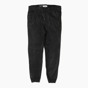 [하이퍼데님] HYPER DENIM Drop Crotch Wax Jogger Black - 풋셀스토어