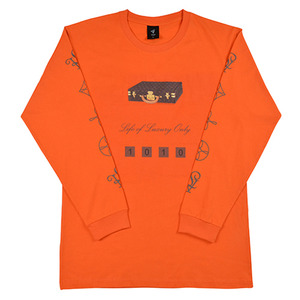 롤로, [LOLO] BISTEN T-SHIRT L/S  (Orange/Brown) - 풋셀스토어
