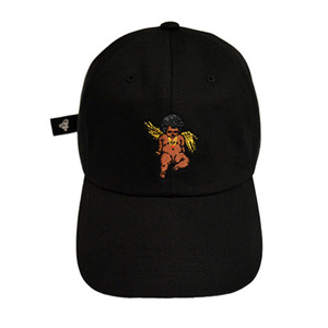 롤로, [LOLO] BLACK ANGEL DAD HAT (BLK) - 풋셀스토어