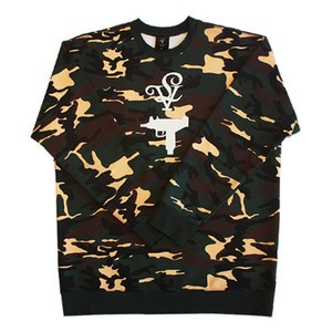 롤로, [LOLO] UZI CREW NECK MEN (OLIVE CAMO) - 풋셀스토어