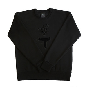 롤로, [LOLO] UZI CREW NECK WOMEN (BLACK) - 풋셀스토어