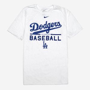 나이키 MLB LA 다저스 로고 드라이핏 반팔티(화이트), NIKE MLB LA DODGERS LOGO T-SHIRT - 풋셀스토어