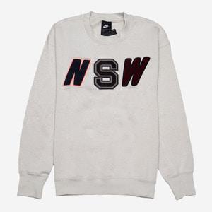 나이키 NSW 로고 맨투맨, AS M NSW CRW LS FLC, AA3779-072 - 풋셀스토어
