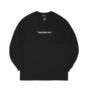 [위티나트] FFBW WIT. 롱슬리브 티셔츠 블랙 / FFBW WIT. L/SLV T-SHIRT black - 풋셀스토어