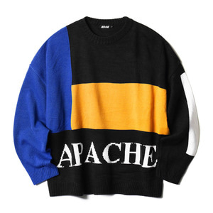 네스티킥, BLOCKY APACHE KNIT BLACK (NK18A009H) - 풋셀스토어