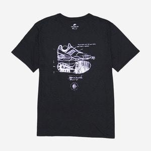 나이키 허라취 디자인 스케치 반팔티, NIKE HUARACHE SKETCH SHRIT, 840327-010 - 풋셀스토어