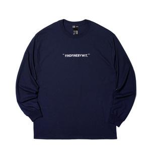 [위티나트] FFBW WIT. 롱슬리브 티셔츠 네이비 / FFBW WIT. L/SLV T-SHIRT navy - 풋셀스토어