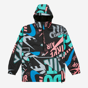 "나이키 NSW 아노락 ""ALL OVER PRINT"", NSW AOP HD JACKET, AQ0584-010 - 풋셀스토어"