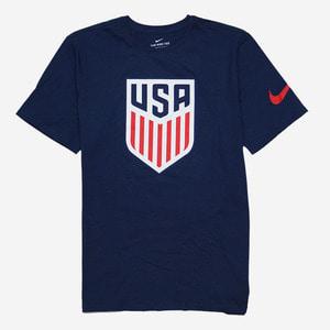 나이키 USA 미국 국대 반팔티, NIKE USA CREST T-SHIRT, 742173-410 - 풋셀스토어