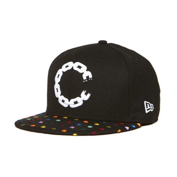 [크룩스앤캐슬]CROOKS & CASTLES Mens Woven Fitted Cap - Hirst Chain  C [2] - 풋셀스토어