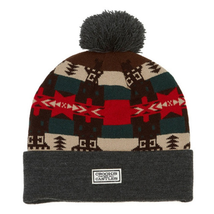 [크룩스앤캐슬]CROOKS & CASTLES Mens Knit Beanie - Mayan [2] - 풋셀스토어