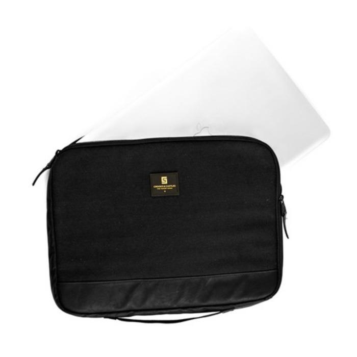 [크룩스앤캐슬]CROOKS & CASTLES Woven Laptop Sleeve  - Stealth - 풋셀스토어