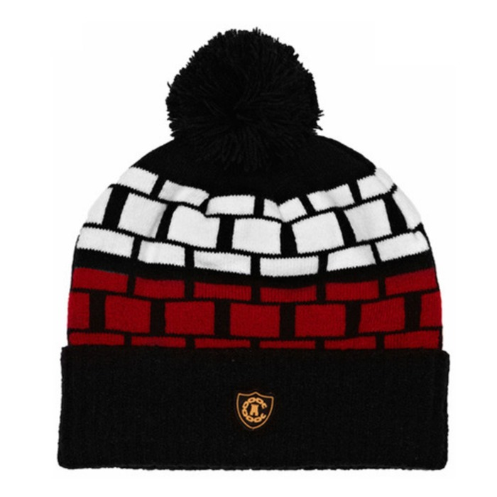 [크룩스앤캐슬]CROOKS & CASTLES Mens Knit Pom Beanie - Rolly [1] - 풋셀스토어