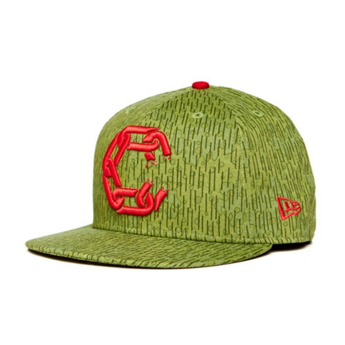 [크룩스앤캐슬]CROOKS & CASTLES Mens Woven Fitted Jungle Cap - New Chain C [1] - 풋셀스토어