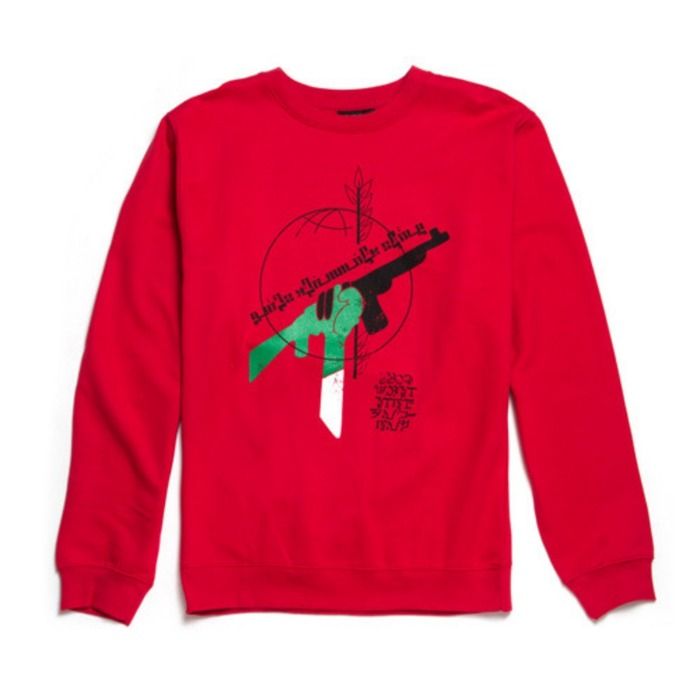 [블랙스케일]BLACKSCALE RBG Revolution Crewneck, RED - 풋셀스토어