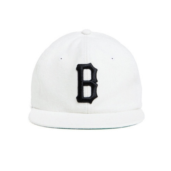 [블랙스케일]BLACK SCALE Vintage B Logo New Era Snapback (White) - 풋셀스토어