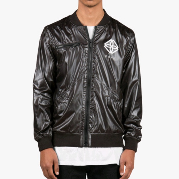 [도프]DOPE Monogram Windbreaker (Black) - 풋셀스토어