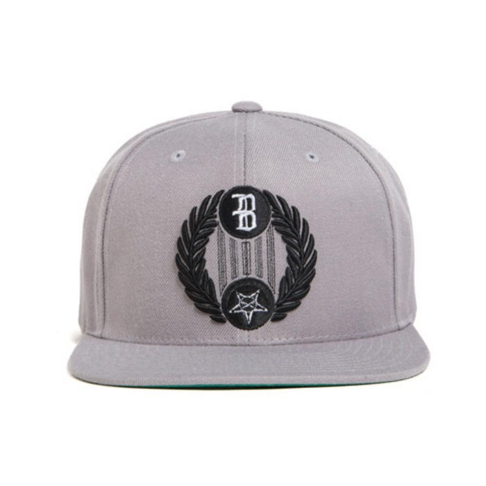 [블랙스케일]BLACK SCALE Star Crescent Snap Back, Grey - 풋셀스토어