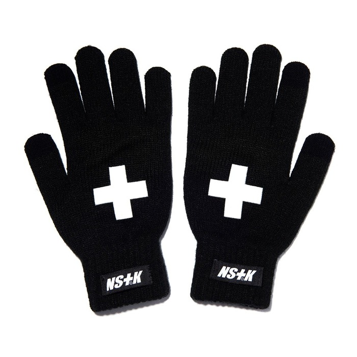 네스티킥, [NK] NSTK CROSS GLOVES BLACK (NK18A101H) - 풋셀스토어