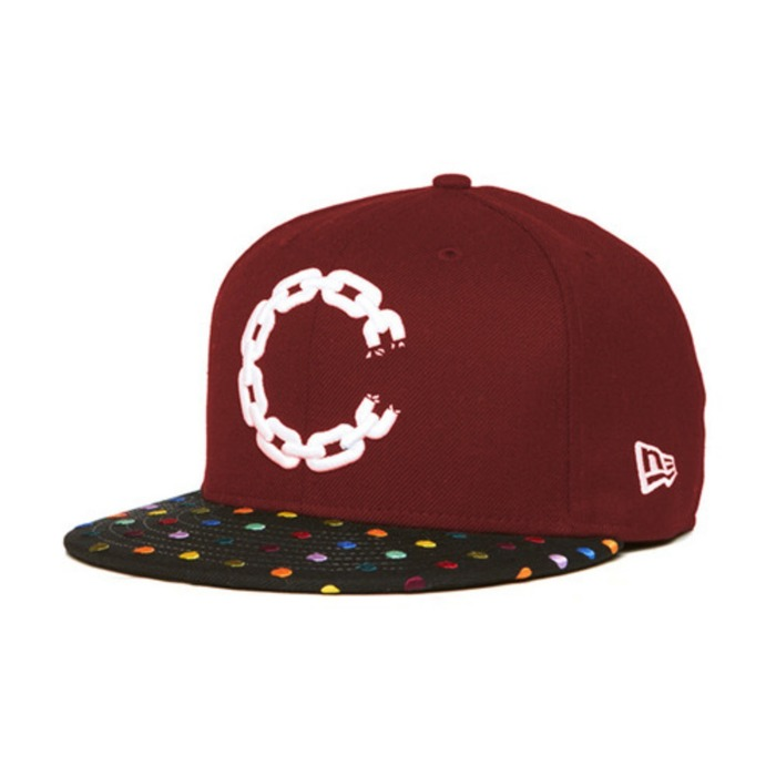 [크룩스앤캐슬]CROOKS & CASTLES Mens Woven Fitted Cap - Hirst Chain  C [4] - 풋셀스토어