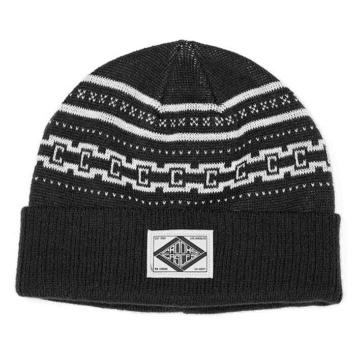[크룩스앤캐슬]CROOKS & CASTLES Mens Knit Beanie - Fair Mile - 풋셀스토어