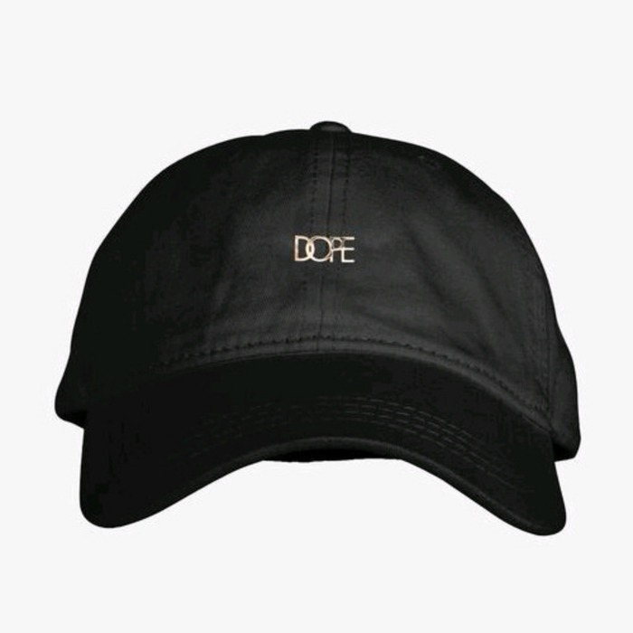 [도프]DOPE Leather Micro Logo Cap (Black) - 풋셀스토어