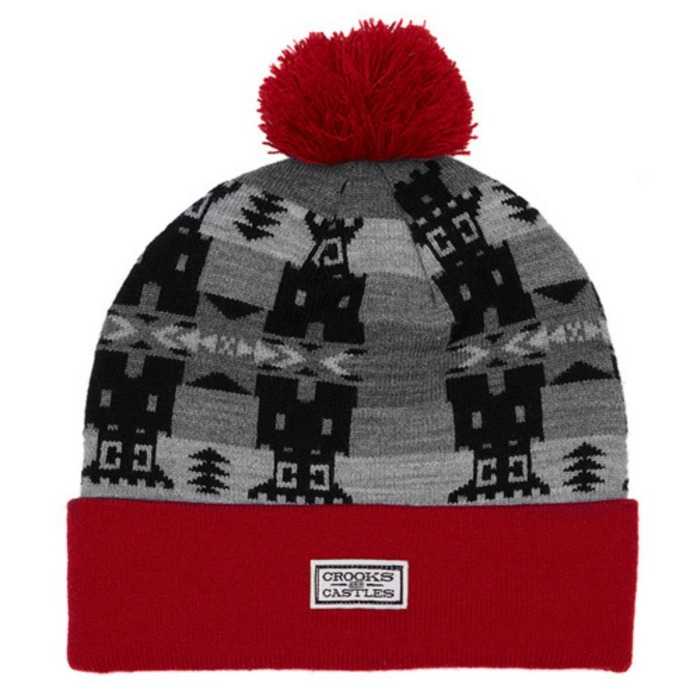 [크룩스앤캐슬]CROOKS & CASTLES Mens Knit Beanie - Mayan [3] - 풋셀스토어