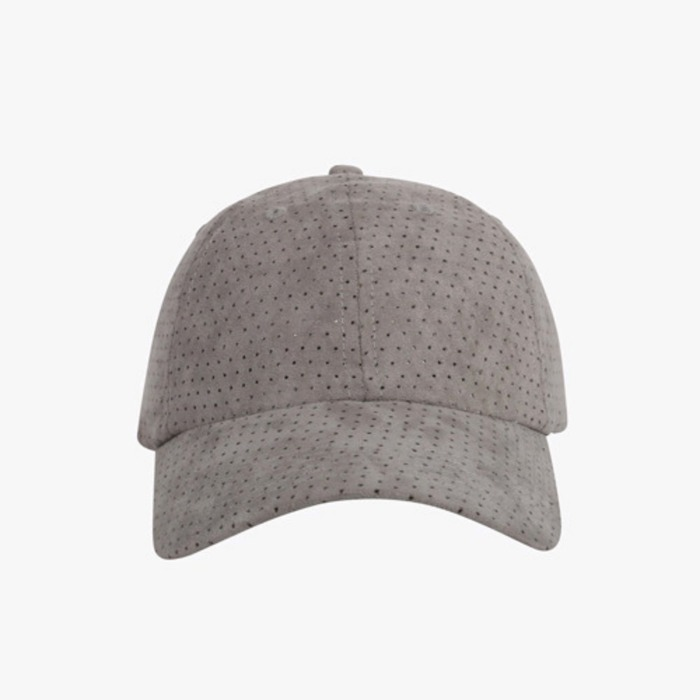 [도프]DOPE Perforated Suede Cap CHARCOAL GREY - 풋셀스토어