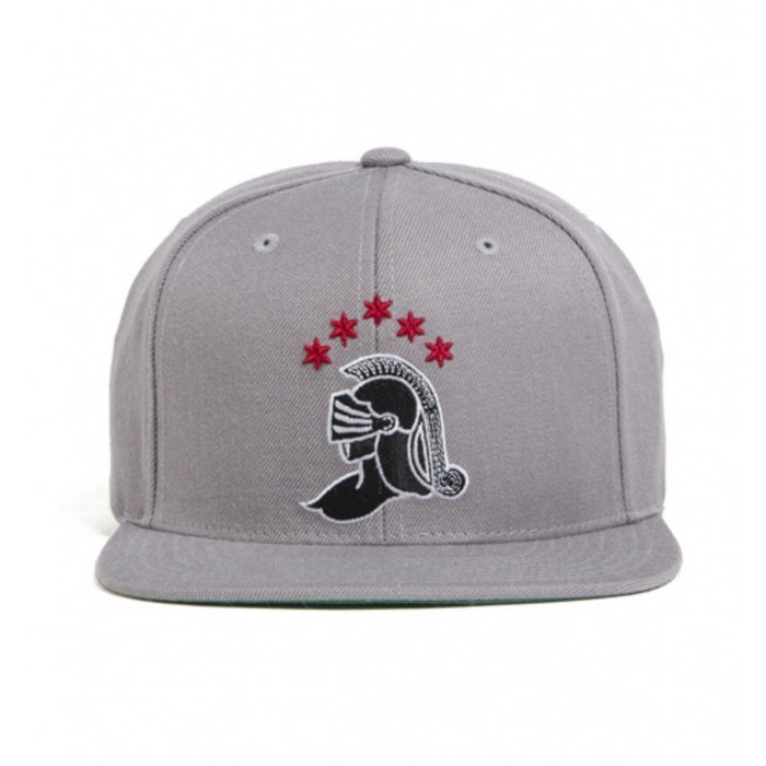 [블랙스케일]BLACK SCALE Knight Logo Snap Back, Grey - 풋셀스토어