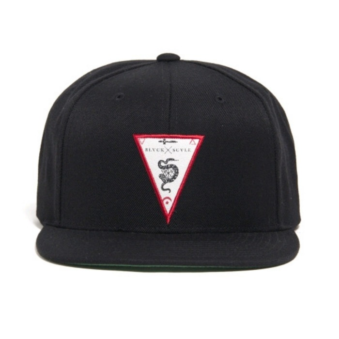 [블랙스케일]BLACK SCALE Etymology Snapback (Black) - 풋셀스토어