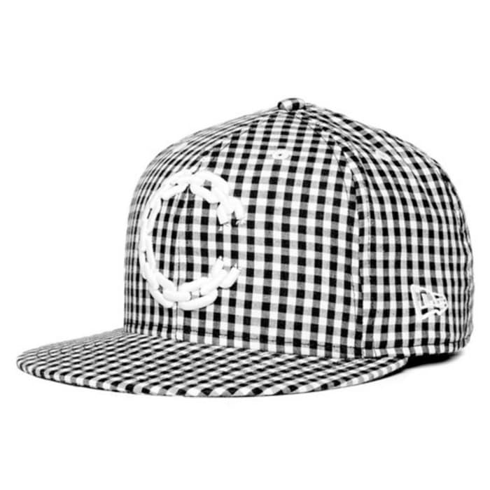 [크룩스앤캐슬]CROOKS & CASTLES Mens Woven Fitted Cap - Chain C Gingham - 풋셀스토어