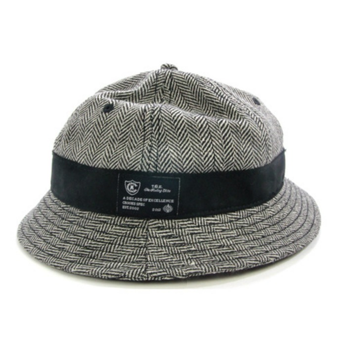 [크룩스앤캐슬]CROOKS & CASTLES Mens Wool Bucket Hat - Herringbone [2] - 풋셀스토어