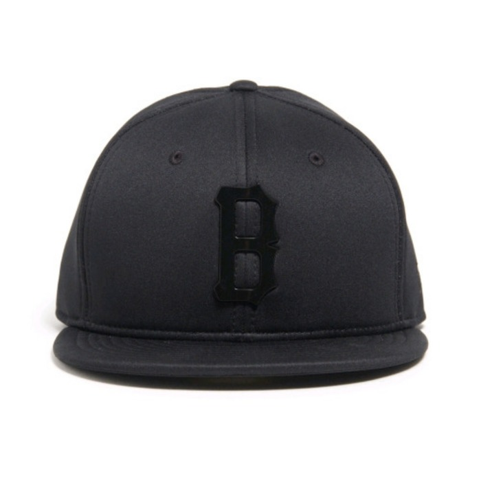 [블랙스케일]BLACK SCALE B Logo Neo New Era (Black) - 풋셀스토어