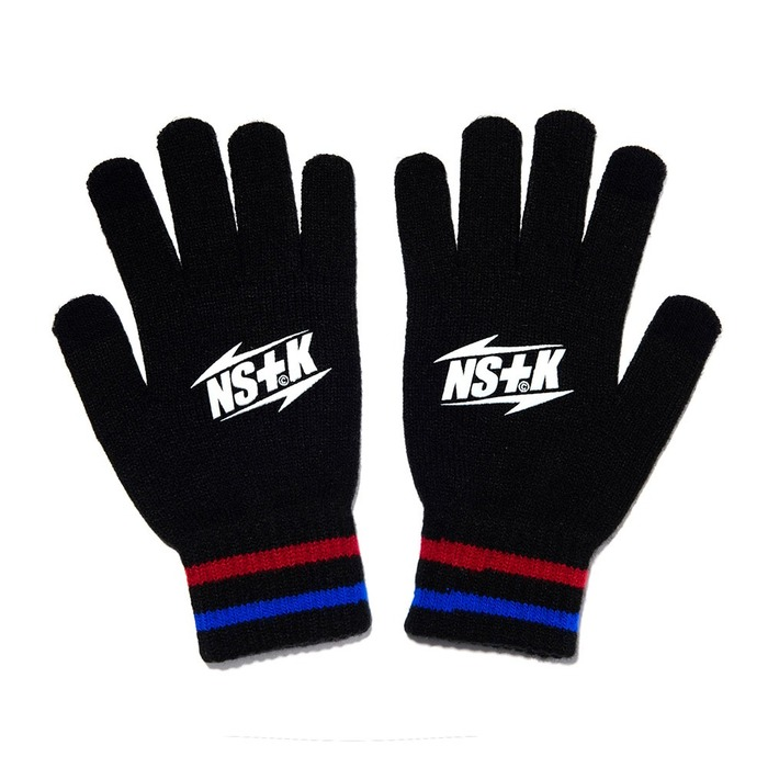 네스티킥, NSTK LT LOGO GLOVES BLACK (NK18A100H) - 풋셀스토어