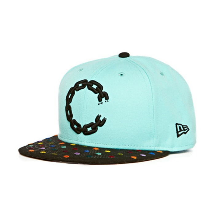 [크룩스앤캐슬]CROOKS & CASTLES Mens Woven Fitted Cap - Hirst Chain  C [1] - 풋셀스토어