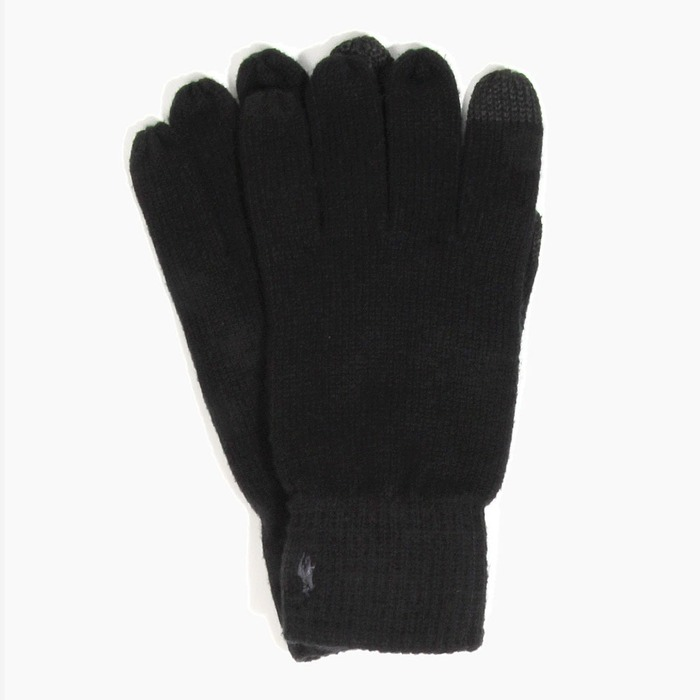 [폴로] POLO Cotton Merino Touch Glove Black, 장갑 - 풋셀스토어