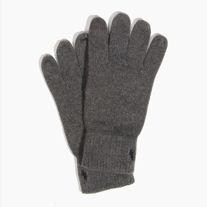 [폴로] POLO Cotton Merino Touch Glove Charcoal, 장갑 - 풋셀스토어