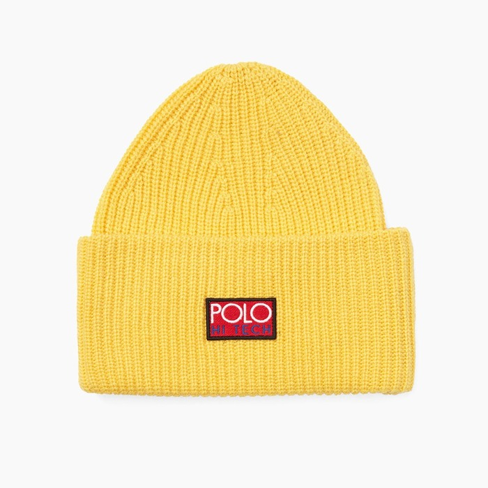[폴로] POLO Polo Hi-Tech Beanie Yellow, 비니 - 풋셀스토어