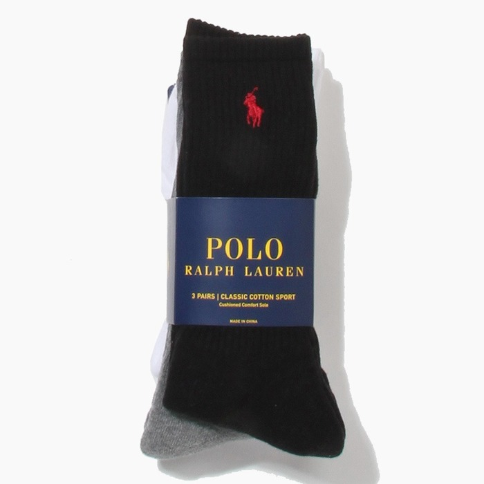 [폴로] POLO classic cotton sports Socks 3pack Ast, 양말 - 풋셀스토어