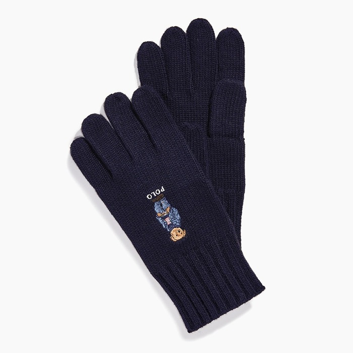 [폴로] POLO Jean Jacket Weater Bear Glove Navy, 장갑 - 풋셀스토어